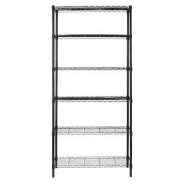 "2017 Industrial Wire Shelving 4 Shelves 48"" x 24"" x 72"" Black"
