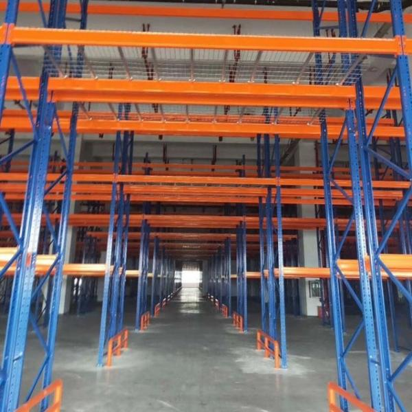 3 Shelf adjustable Steel Wire Deck Industrial Warehouse Storage Rack