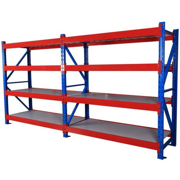 Factory Direct Sale Light Duty 4Tier Warehouse Display Steel Storage Slotted Boltless Angle Rack